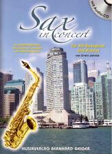 Sax in Concert mit CD (Alt-Saxophon und Klavier) (Notenheft)