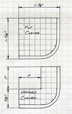 "N SCALE: ""EZ STREETS"" - 1 Traffic Island & 4 pcs. Curb & Gutter Set - FNA-3002"