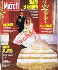 Paris Match n°1941 du 08/08/1986 Mariage Fergie Andrew Incendie Sennecy-le-grand