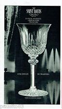 PUBLICITE ADVERTISING 115  1965  SAINT LOUIS  CRISTAL   verres  TOMMY