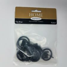 """Home Inspirations - Clip Rings for 1 """" Rod- Brown 7 ct"""