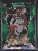 2019 Panini Prizm Basketball KZ OKPALA GREEN ICE ROOKIE CARD RC DRAFT #05/18