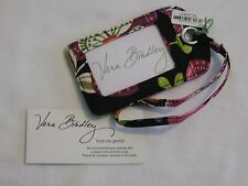 Vera Bradley PIROUETTE PINK LUGGAGE ID Name TAG CASE for PURSE Tote BACKPACK NWT