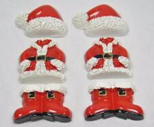 BB FLATBACKS SANTA SUIT BULK pk of 24 CHRISTMAS boots hat suit SPECIAL