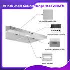 30 Inch Silver Stainless Steel Under Cabinet Range Hood 230CFM Kitchen Vent New photo