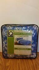 Living Quarters New Micro Fiber Full/Queen Reversible Comforter Blue Snowflakes
