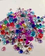 600 Assorted Size And Color Acrylic Crystals 2 mm - 10mm.