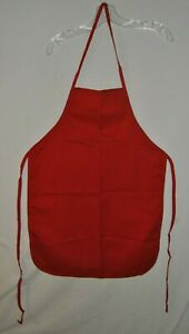 Solid Red Apron Innovo Inc Made In USA adult Very Clean