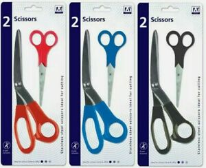 """2 Pcs Stainless Steel Craft Scissors Paper Card School Office Home 2 Sizes 8""""&5"""""""