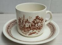 Vintage Crown Lynn Heritage Pattern Cup & Saucer Made In New Zealand c1981-88
