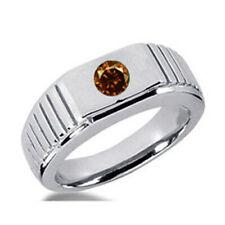 Herren Diamantring 0.25 ct cognac Diamant 585er oder 750er Gold