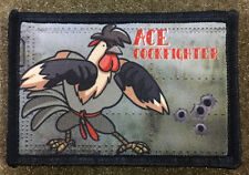 Ace Cockfigther Nose Art Morale Patch Tactical Military Army Hook Flag Badge USA