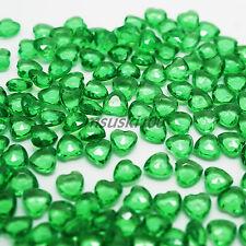 500pcs Corazones Forma Diamante Confeti Mesa Boda Relleno 6mm Cuentas Cristales