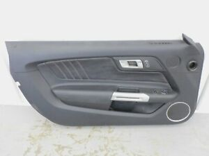 """2015 2017 Ford Mustang GT LH Driver Door Panel Black """"LEATHER"""" OEM"""