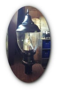 "Vintage NYC Street Light,  Pole Lamp LED Riverside Manhattan 41"" tall"