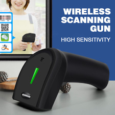 Wireless Red Laser Multifunction Barcode Scanner Supermarket Handheld Gun Reader