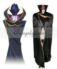 Code Geass Lelouch Zero Black Cloak Cosplay Costume E001