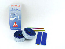 "Iscaselle Handlbar tape blue ""Faux Leather"" Vintage Road Racing bicycle NOS"