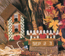 Harvest Birdhouse & Block Calendar Plastic Canvas Pattern Instructions