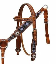 Showman Pony/Small Horse Hand Painted Purple Headstall and Breast Collar Set!