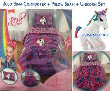 3pc JOJO Siwa COMFORTER+Pillow SHAM+UNICORN SET Twin/Single Full/Double Bed Room