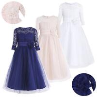 Flower Girl Princess Dress Kids Bridesmaid Wedding Pageant Birthday Formal Dress