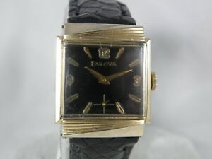 SERVICED 1960`s   BULOVA  * Rawlings *...RIBBED CASE *   MEN`S  WATCH,WORKING