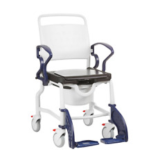 NEW REBOTEC BERLIN MOBILE SHOWER COMMODE CHAIR REMOVABLE SEAT CUSHION DAILY CARE