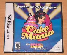 Cake Mania with Back to the Bakery (Nintendo DS) NEW SEALED Cakemania Video Game