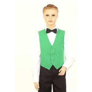 Kids Emerald Green Full Back Dress Vest