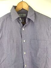 Brooks Brothers Mens Stretch Dress Shirt Purple Check Size 15 34/35 Long Sleeve