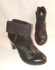 J-41 Temptation Size 6.5 M Booties Ankle Boots Heels Black Leather
