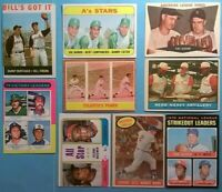 Vintage 1960s 1970s Topps Old Baseball 9card HOF/Star Lot *Multi-, Leaders* 9HOF