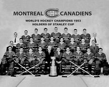1953 NHL CHAMPIONS Montreal Canadiens Glossy 8x10 Photo Stanley Cup Poster