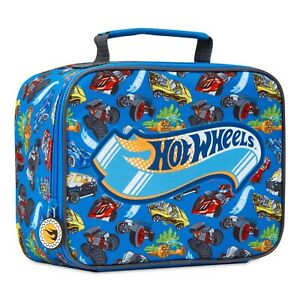 Hot Wheels Insulated Lunch Bag, Boys Lunch Box for School, Picnic, Travel, Gifts