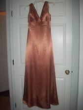 Belsoie Copper Bridesmaid Long Formal Evening Dress Size 6