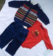 Pant Set Navy Gymboree Corduroy Sweater 3pc Boy size 3-6 month New