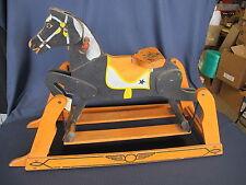 1930's Primitive Americana Rocking Glider Horse Kids Child Cowboy Original Paint
