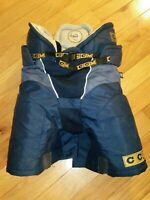 "CCM Tacks 862 Twins Pad Belted Padded Hockey Pants - Medium 25"" - Blue"