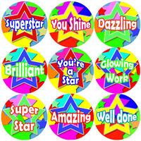 144 Superstar 30mm Children's Reward Stickers for Teachers, Parents Party Bags,