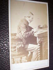 Cdv old photograph man writing by T Bennett of Worcester c1860s