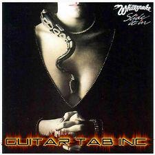 Whitesnake Guitar & Bass Tab SLIDE IT IN Lessons on Disc Drum Tablature