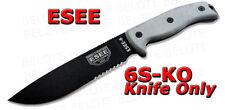 ESEE Model 6 Serrated KNIFE ONLY Micarta Handle 6S-KO