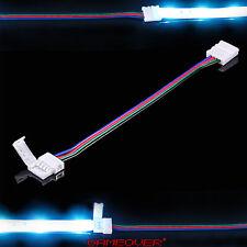 🔴 5cm kurz [Sonderlänge] RGB LED Strip Klemm Verbinder Kabel 4 Pin 5050 Stripe