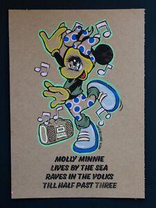 Molly Volks Nightclub Raver Rave - Graffiti Minnie Brighton Street Art MsDre A5