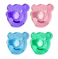 Philips Avent Bear Soothie 0-3 Months - 2 Pack - BPA Free Different Colours