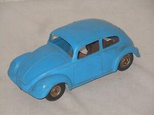 VINTAGE TOY - ARNOLD - VW KÄFER BEETLE - WEST GERMANY - 20 cm - BLAU 13