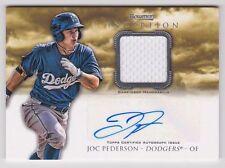 Joc Pederson Dodgers 2013 Bowman Inception Auto Relic Jersey Rookie Card rC QTY