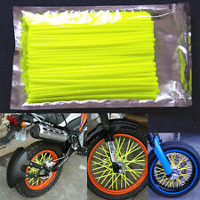 72pcs Yellow Wheel Spoke Skin Cover Wrap Kit 4 Motorcycle Motocross Dirt Bike