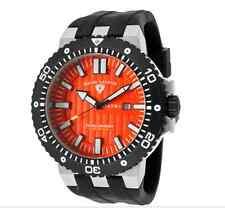 Swiss Legend Men's Challenges Watch Styles Black Silicone Band/Orange Textured D